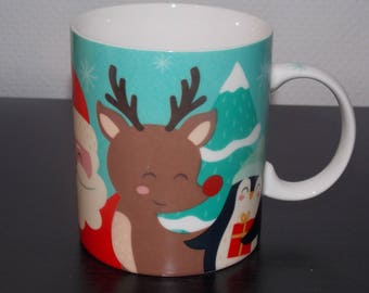 Soft-paste porcelain - friends Christmas mug
