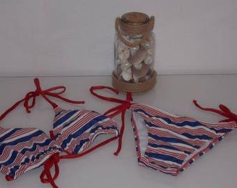 Bikini Brazilian printed striped