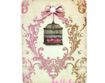 Set of 2 tags labels scrapbooking cardmaking model 6 shabby *.