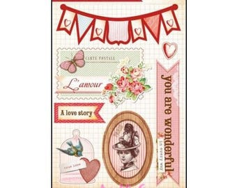 """""""Romantic"""" Grace Taylor scrapbooking card making (ref.110) paper stickers *."""