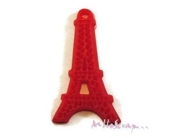 Eiffel Tower X 1 red resin embellishment scrapbooking card making *.