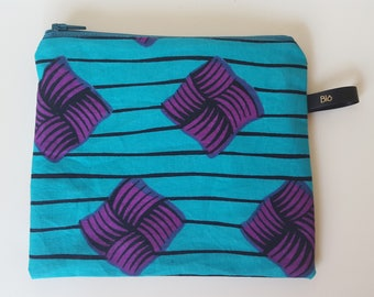 Blue and purple wax pouch
