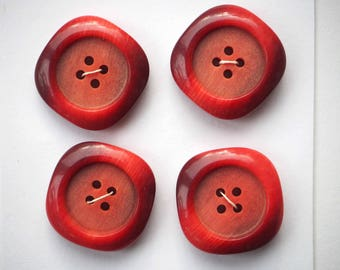 large buttons 25mm orange, acrylic, brown jacket or coat