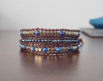 Luxor cuff wrap bracelet three towers