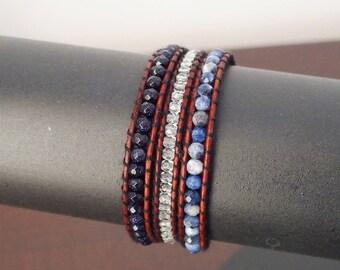 Vega cuff wrap bracelet three towers - mala bracelet