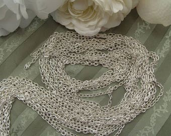 chain links open 4.5 mm chiseled lot of 5 silver jewelry creations