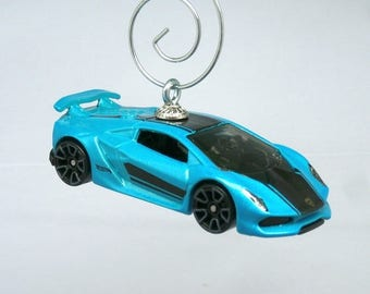 Blue Lamborghini Sesto Elemento Car Christmas Ornament, Ornament Hook  Included, BettyGiftStoree
