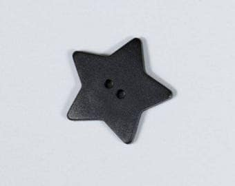 4 star shaped black buttons