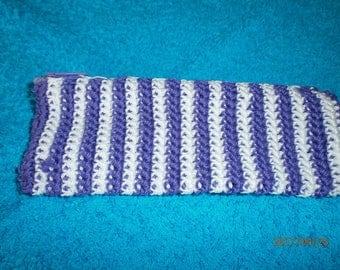 White and purple crochet Kit