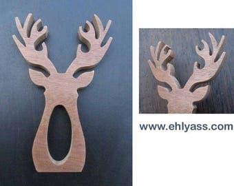 Napkin ring 2 deer wooden fretwork (end)