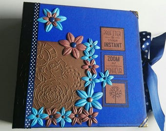 Blue and Brown photo album
