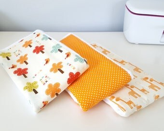 Burp Cloth Set of 3 | Nature Burp Cloths | Baby Shower Gift | Neutral Baby Burp Cloth