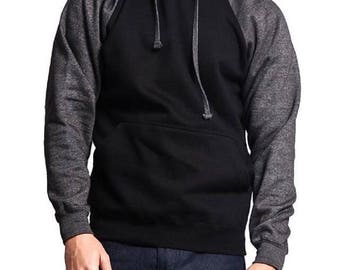 Black And Charcoal Hoodie