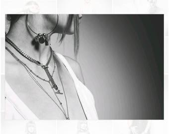 Charmed hoop earrings, large hoop earrings, big hoop earrings, charm earrings, fashion earrings