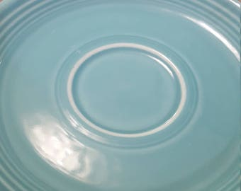Fiesta saucers turquoise antique vintage fiesta ware collectable