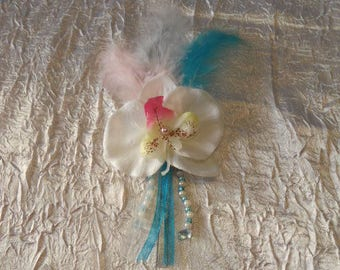 Turquoise wedding boutonniere