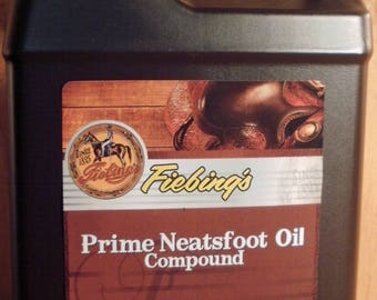 Fiebing's Neatsfoot oil compound 32 oz. Leather care #307