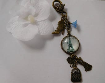 "Jewelry key ring or bag ""Tour Eiffel"""