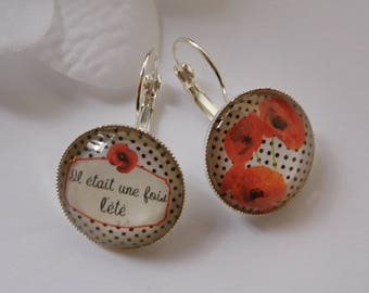 """Earrings cabochon """"once upon a time summer"""""""