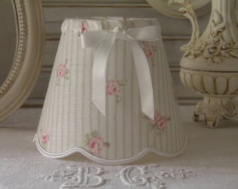 Lampshade for sconces and chandeliers linen English very shabby or romantic