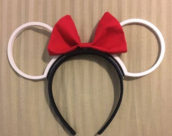 3D Printed Mouse Ears with Interchangeable Ears and Bow