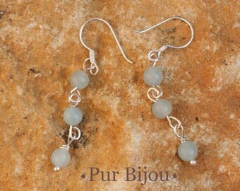 Amazonite and Sterling Silver 925 earrings