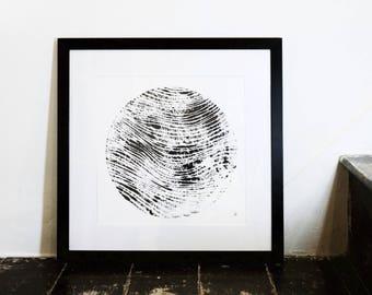 Sphere Portrait. Original signed print. Ink on paper.