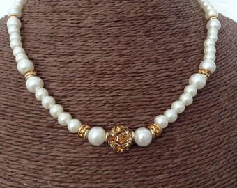 Crystal and imitation pearls