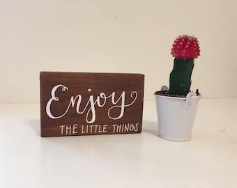 Small Made to Order Calligraphy 3D Wood Plaque