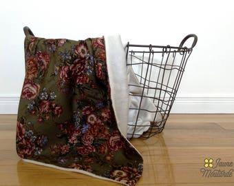 wild flowers baby blanket