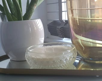 12oz Scented Soy Wax Candle - Crystal Diamond Cut Dish, Licorice Scented Candle, Large Candle