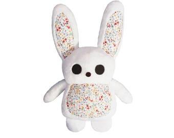 Handmade white Bunny rabbit plush