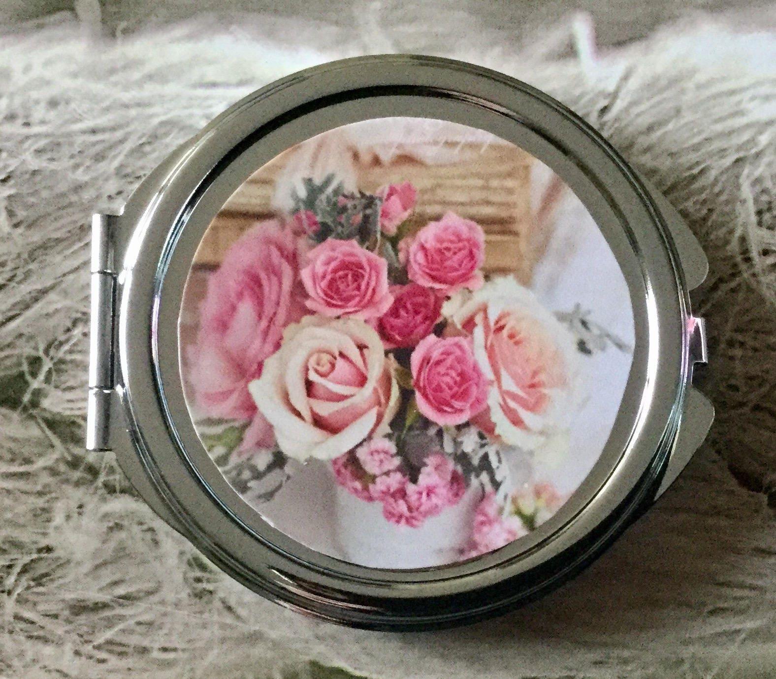 Cadeau pour femme romantique miroir de poche mariage rond - Cadeau romantique pour femme ...