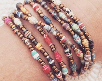 Beads For Joy - Wrap Bracelet or Necklace