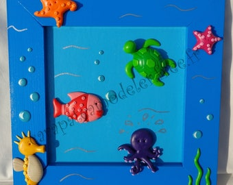 Decorative painting background oceans and marine animals