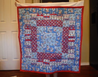 Hanging Raggedy Ann and Andy Quilt