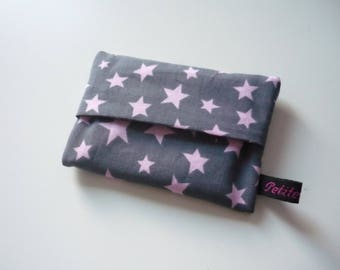 Stars fabric Pouch for tissues - choose your color