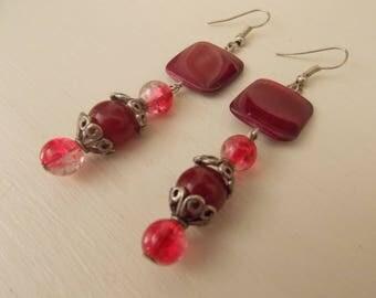 Murano glass and metal earrings