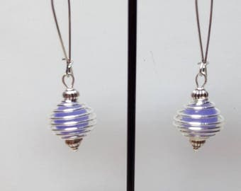 Lavender Pearl spiral earrings