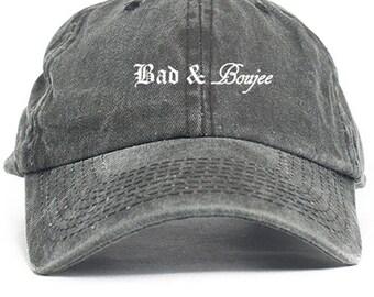 Bad & Boujee Dad Hat Adjustable Baseball Cap New - Black Denim