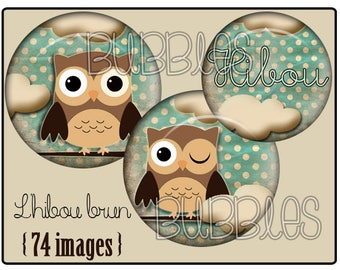 Digital collage sheets - Owl Printable Images Digital Collage Sheet for Jewelry Making
