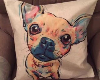 Multicoloured Chihuahua Dog Quality Cushion Cover