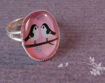 Bird couple ring