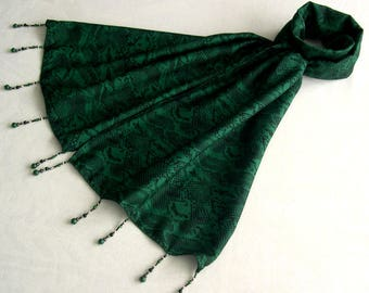Scarf & pearls REF. 050 - reptile pattern