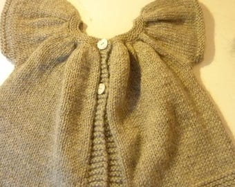 Gray hand knitted vest sleeveless 2 years