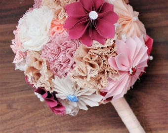 Custom Ribbon Bridal Bouquet