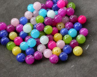 set of 20 stone 6mm reconstituted stone beads