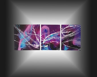 """Design and contemporary abstract painting """"Ultra violet"""""""