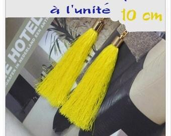 Silk thread tassel pendant yellow gold 10 cm individually