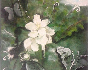 "Art original painting: ""Floral moment"""